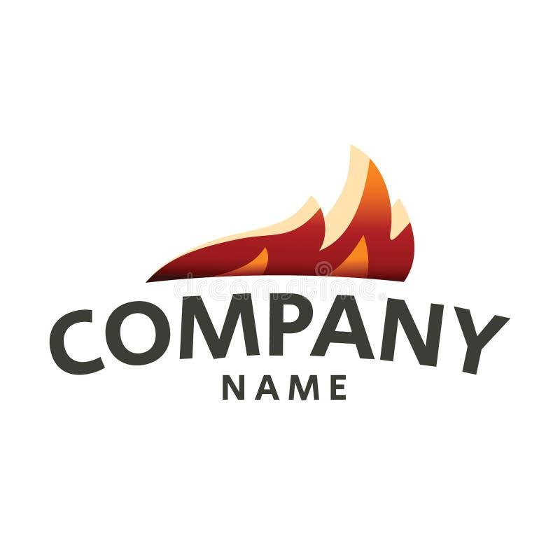 Silhouette de baisse de calibre de vecteur de conception de logo de flamme du feu illustration stock