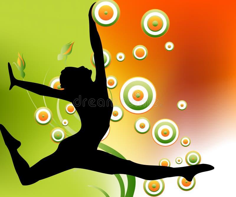 silhouette de ballerine illustration de vecteur