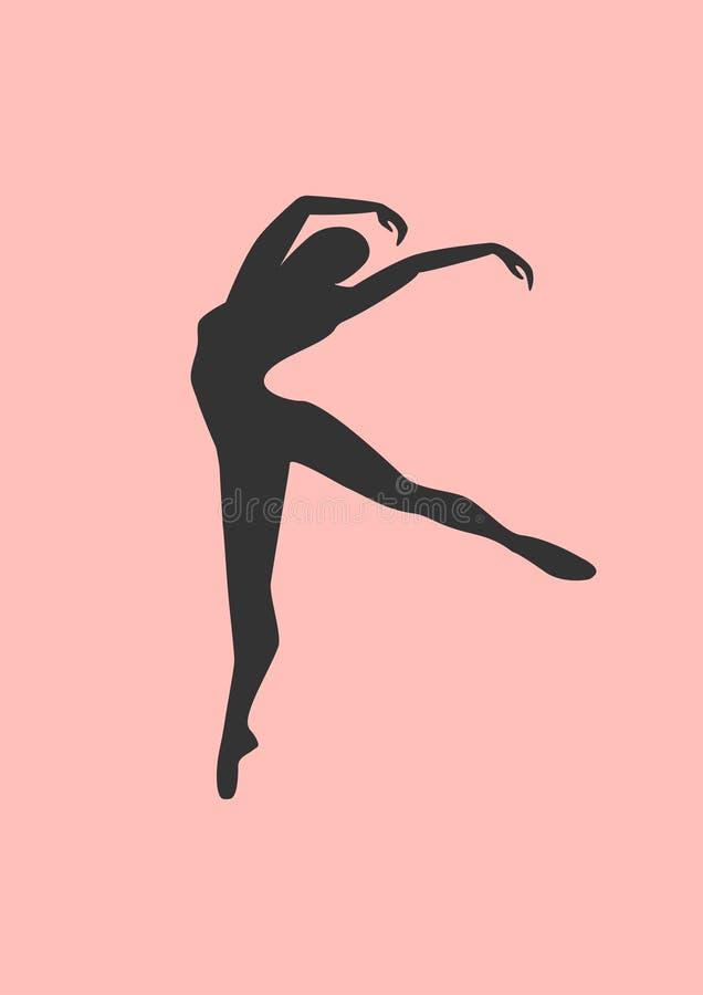 Silhouette de ballerine images stock