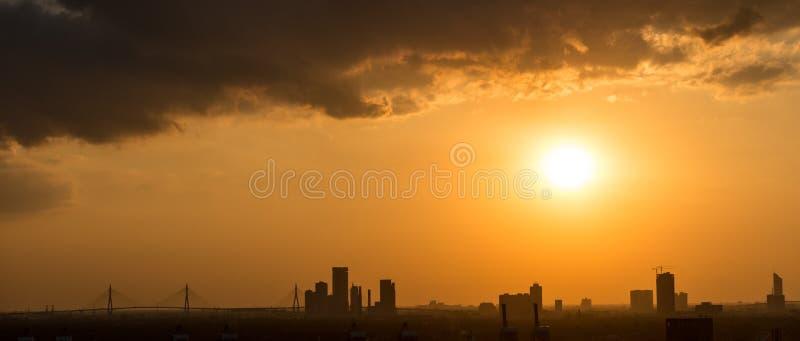 Silhouette de Bangkok photos stock