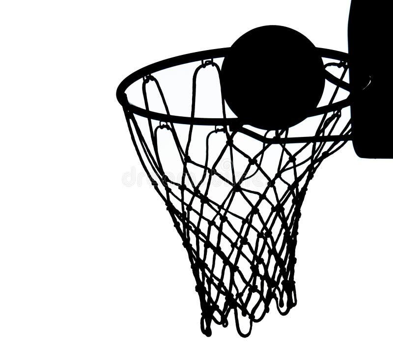 Silhouette de basket-ball. photos libres de droits
