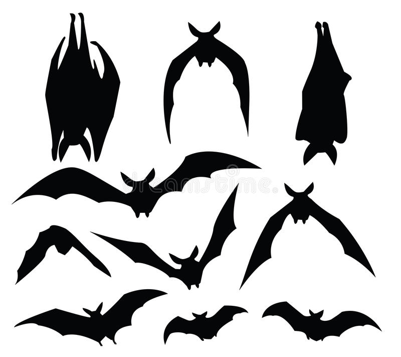 Silhouette de 'bat' illustration stock