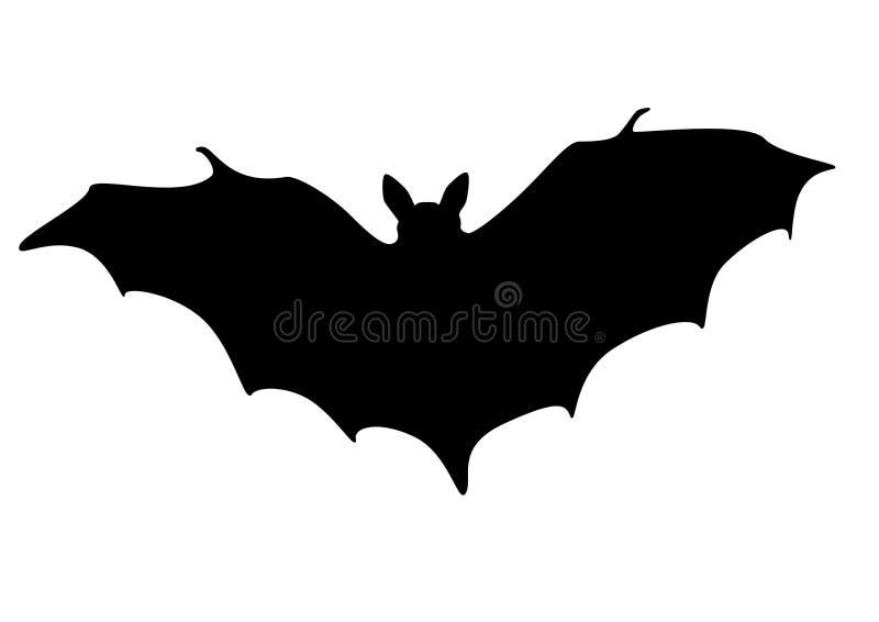 Silhouette de 'bat' illustration libre de droits