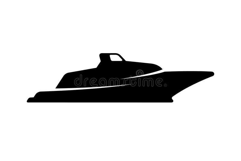 Silhouette de bateau illustration stock