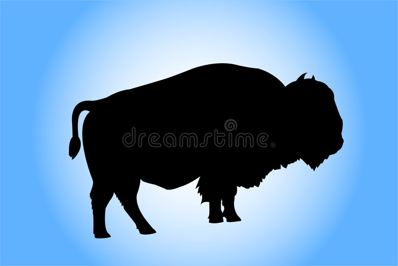 Silhouette de bison illustration libre de droits