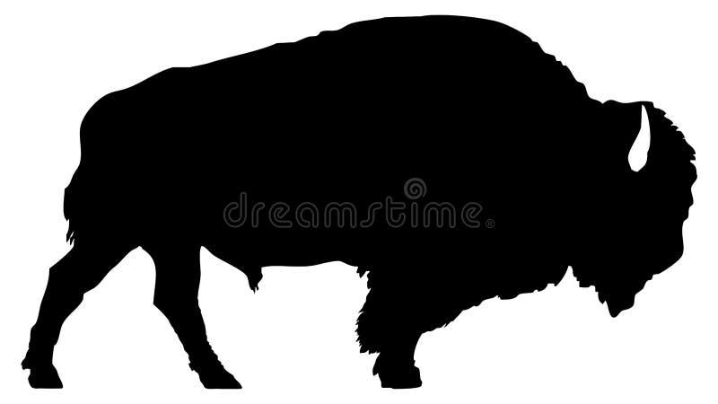 Silhouette de bison américain illustration de vecteur