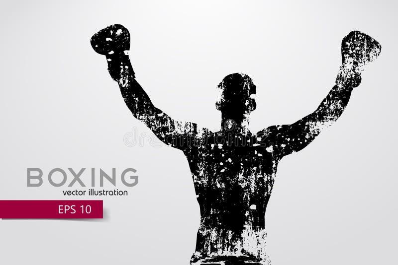 Silhouette de boxe boxe Illustration de vecteur