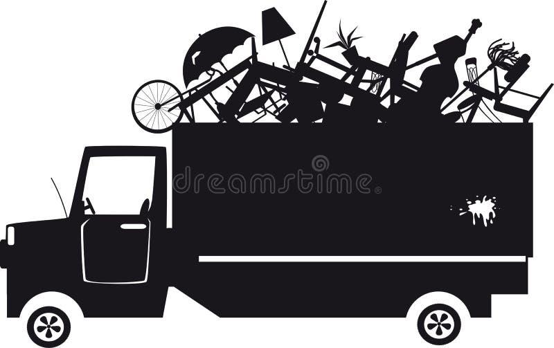 Silhouette de camion à ordures illustration libre de droits