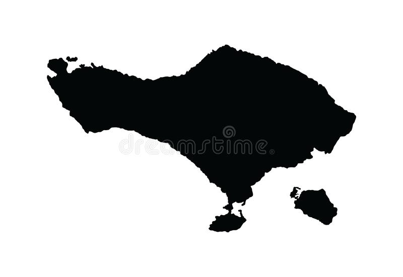 Silhouette de carte de Bali illustration libre de droits