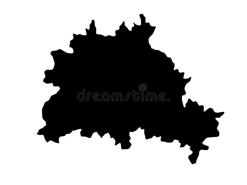 Silhouette de carte de Berlin illustration libre de droits