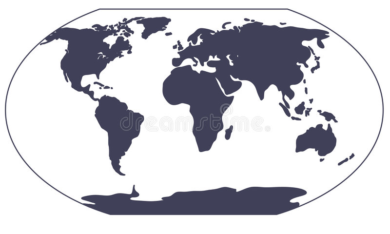 Silhouette de carte du monde