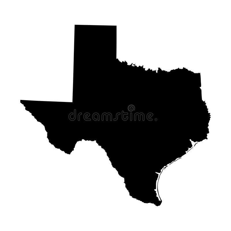 Silhouette de carte du Texas illustration libre de droits