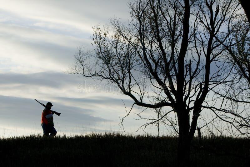 Silhouette de chasse photo libre de droits