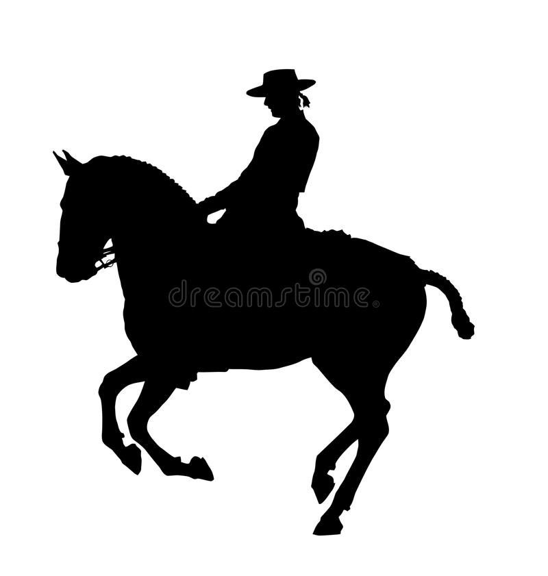 Silhouette de cheval illustration de vecteur
