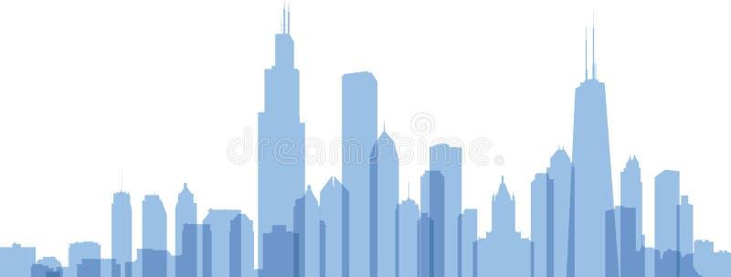 Silhouette de Chicago illustration stock