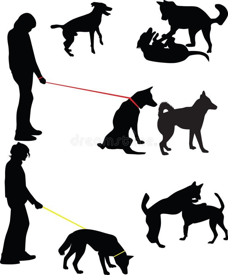 Silhouette de chien  illustration de vecteur