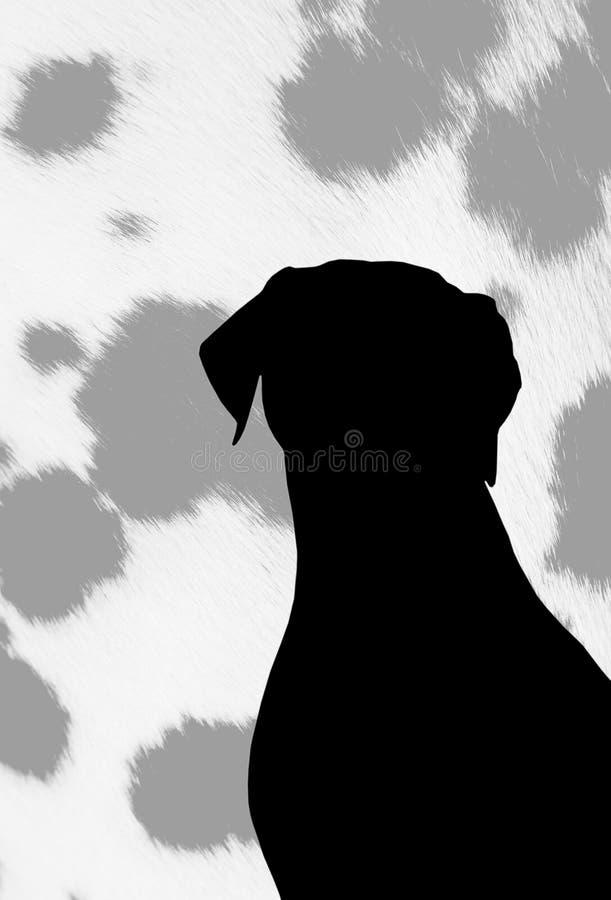Silhouette de chienchiens. photo libre de droits