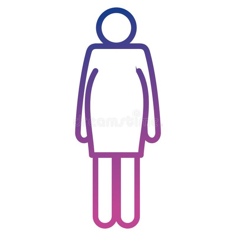 Silhouette de chiffre de grossesse de femme illustration stock