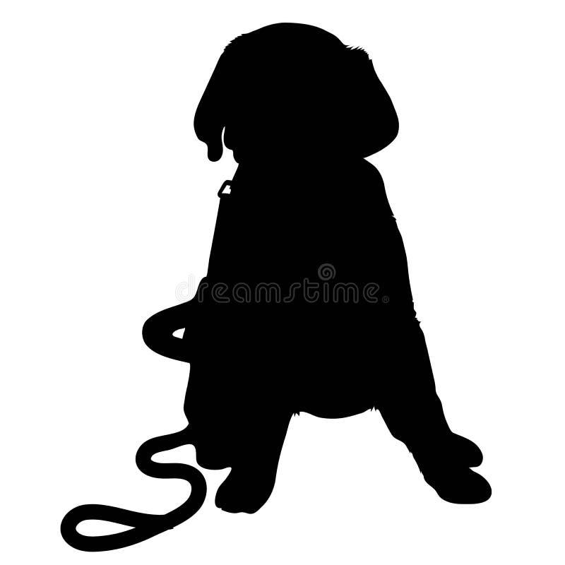 Silhouette de chiot de Labrador illustration libre de droits