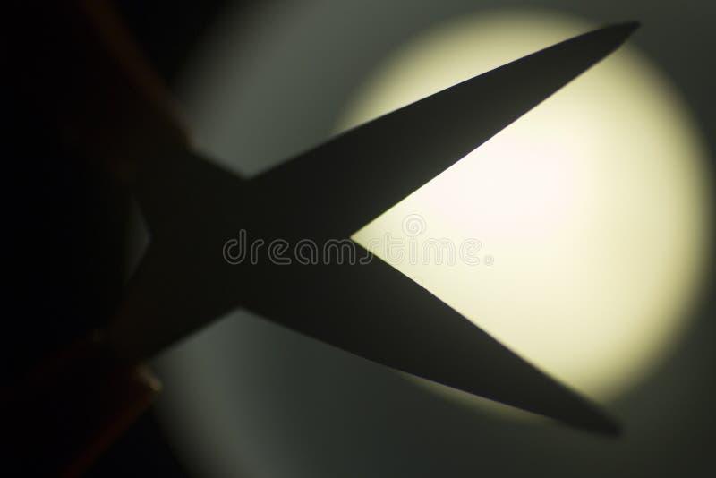 Silhouette de ciseaux photographie stock libre de droits