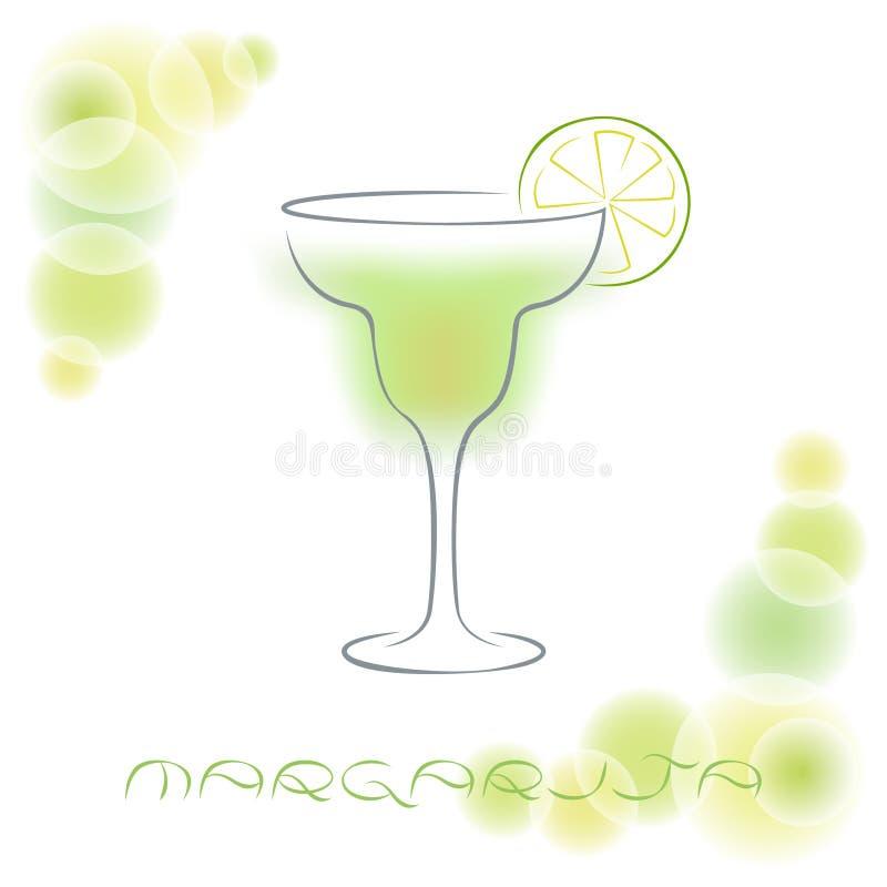 Silhouette de cocktail d'alcool margarita illustration libre de droits
