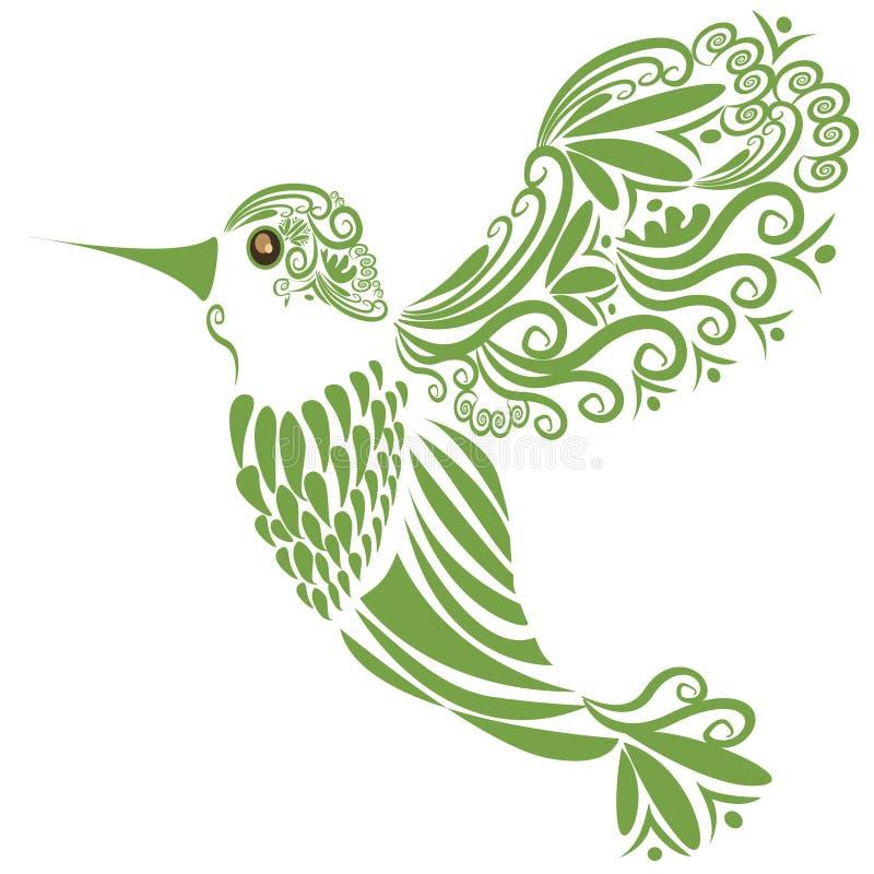 Silhouette de colibri de vol illustration libre de droits