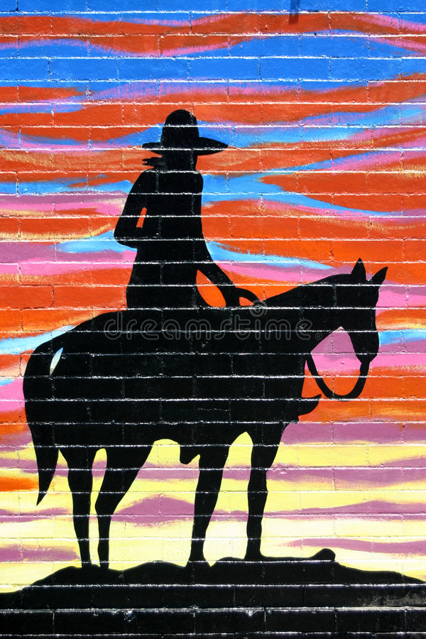Silhouette de cowboy illustration libre de droits