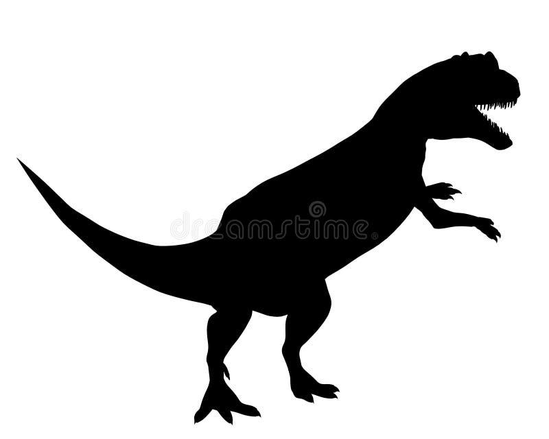 Silhouette de dinosaur - Allosaurus illustration libre de droits