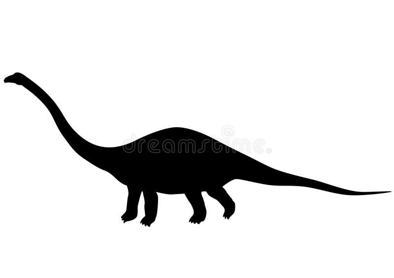 Silhouette de Diplodocus illustration libre de droits