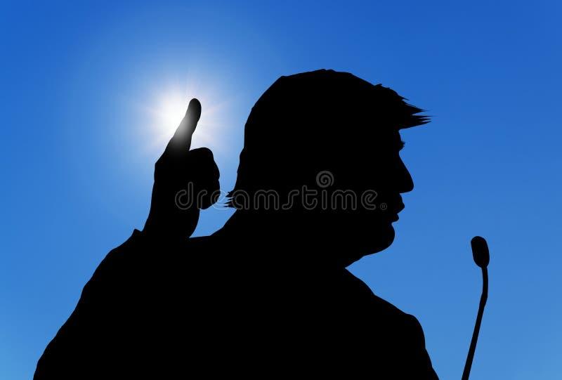 Silhouette de Donald Trump photographie stock libre de droits