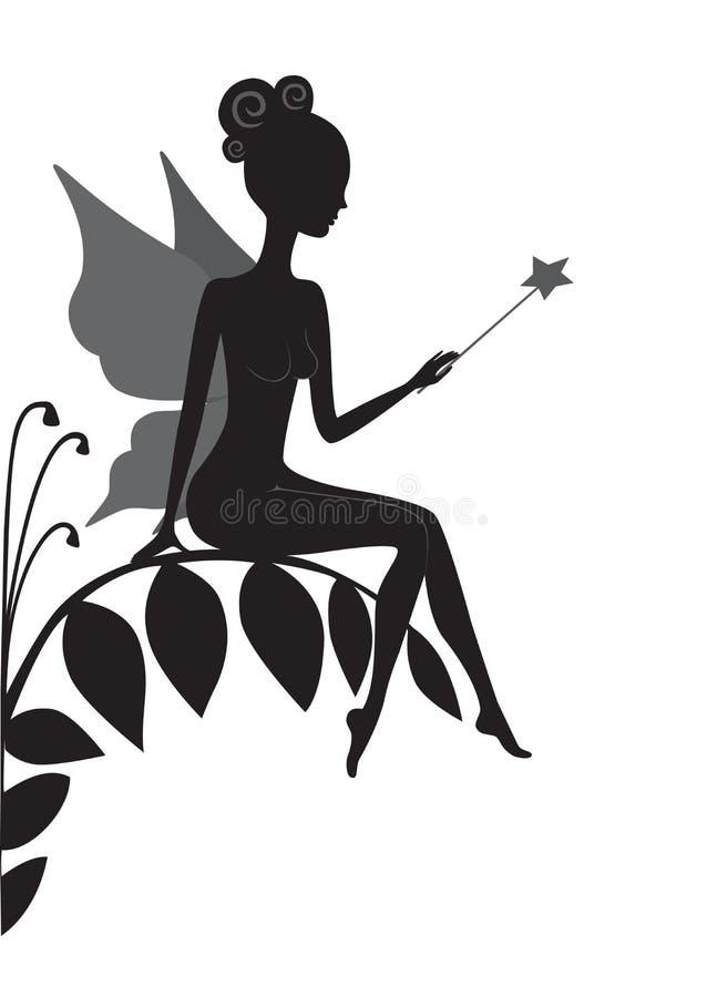 Silhouette de fée magique illustration libre de droits
