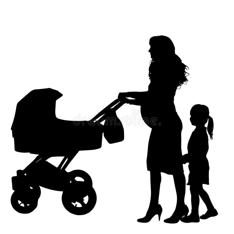 Silhouette de famille de vecteur illustration de vecteur