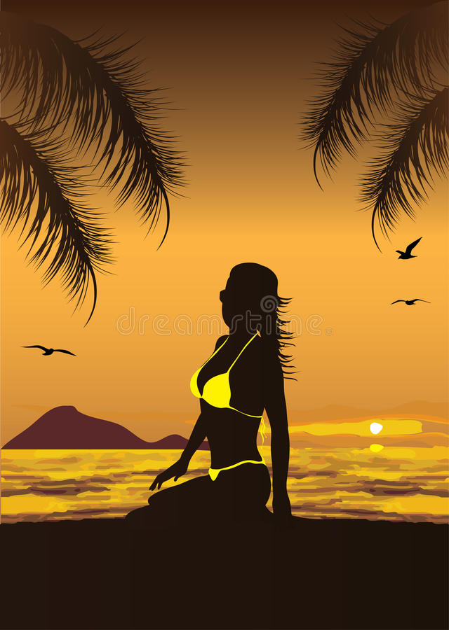 Silhouette de femme illustration stock