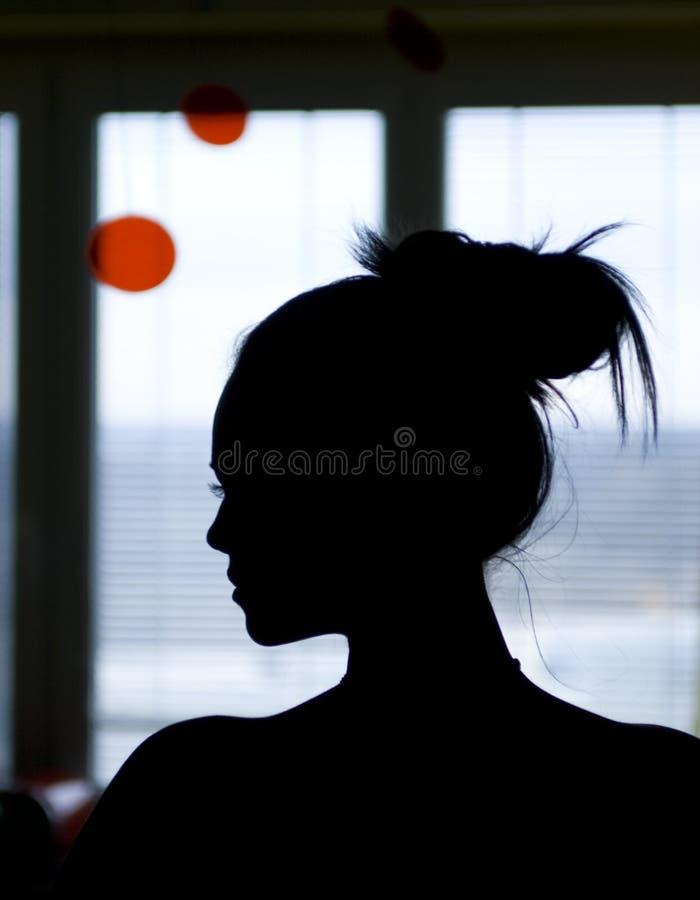Silhouette de femme photos stock