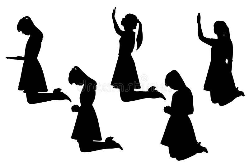 Silhouette de femme illustration de vecteur