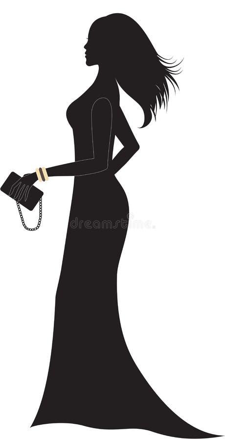Silhouette femme robe longue
