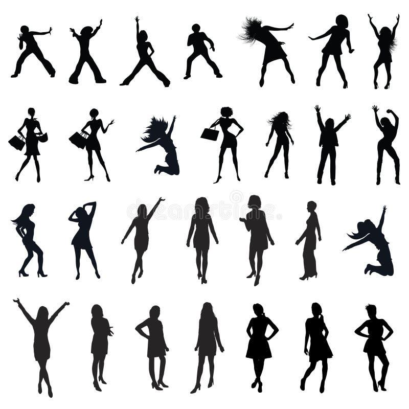 Silhouette de femmes illustration stock