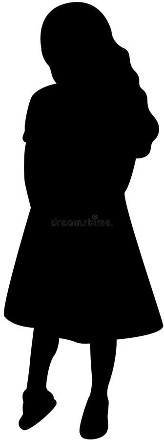 Silhouette de fille illustration de vecteur