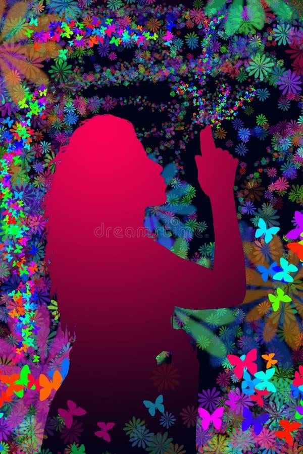 Silhouette de fille images stock