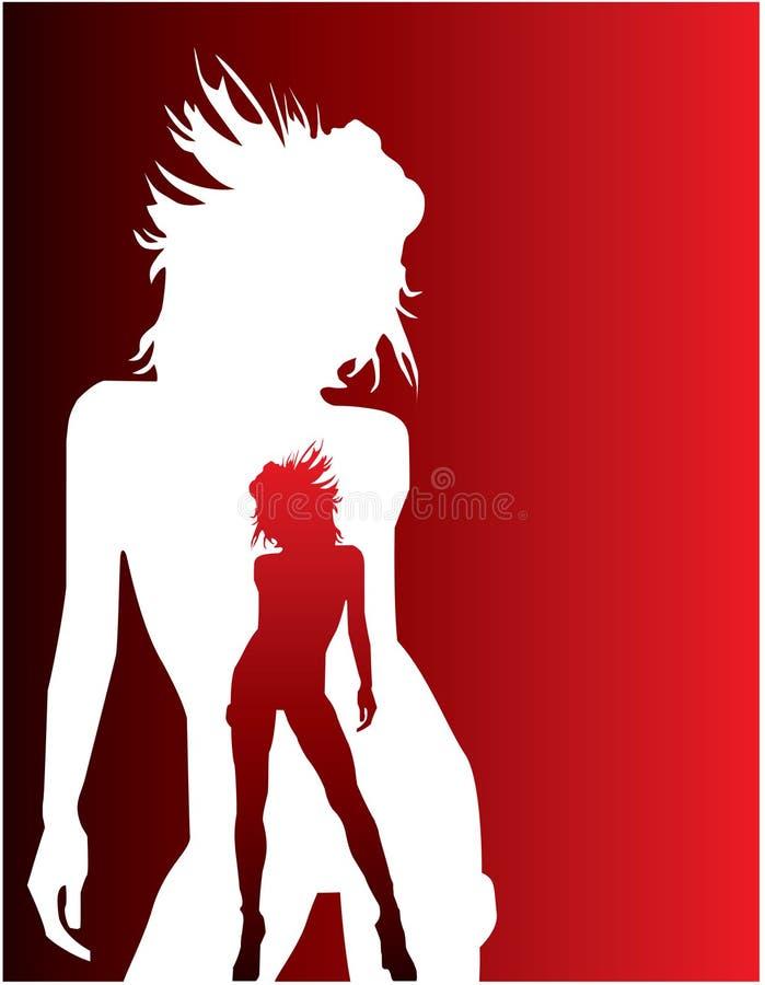 Silhouette de fille de danse illustration de vecteur