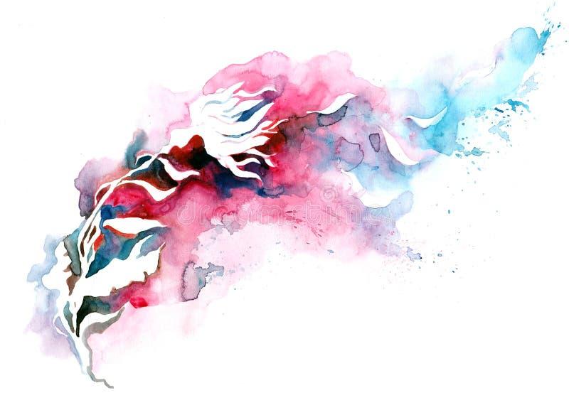 Silhouette de fleur illustration stock