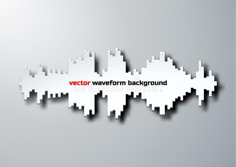 Silhouette de forme d'onde saine avec l'ombre illustration stock
