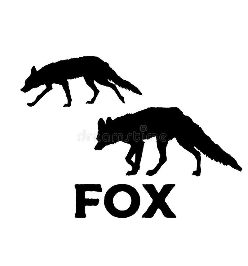 Silhouette de Fox Illustration de vecteur d'isolement sur le fond blanc illustration de vecteur