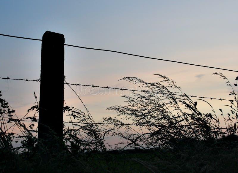 Silhouette de frontière de sécurité image libre de droits