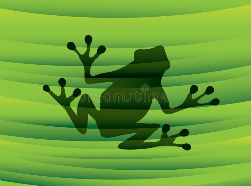 Silhouette de grenouille illustration stock