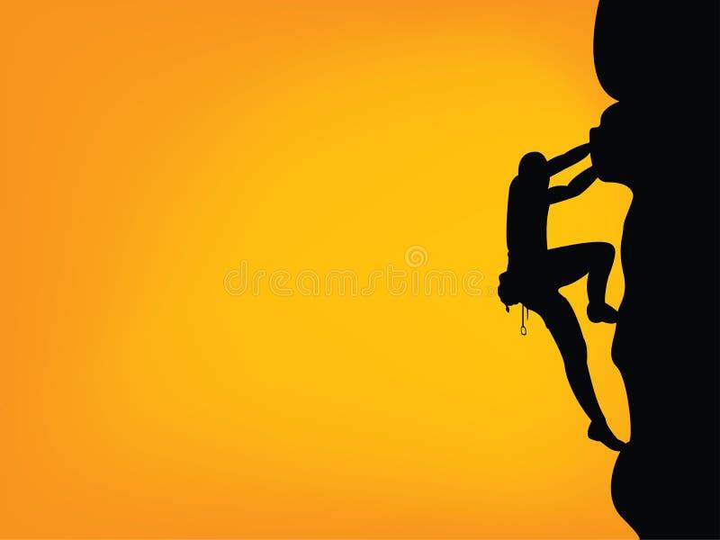 Silhouette de grimpeur images stock