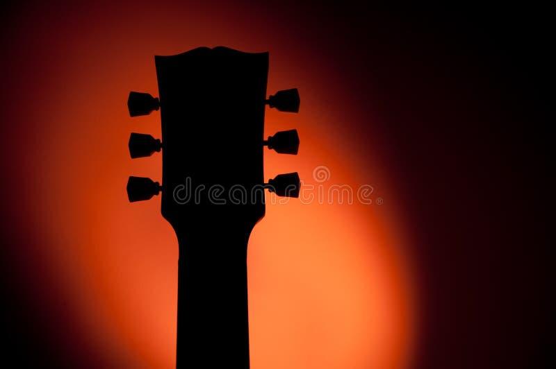 Silhouette de guitare électrique photo libre de droits