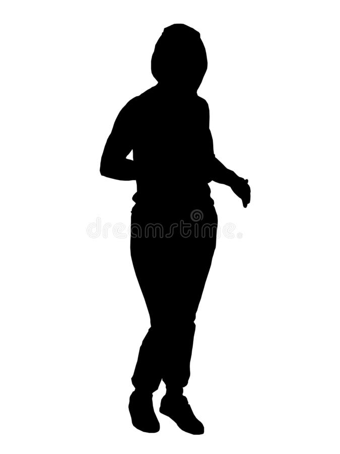 Silhouette de jeune fille photos stock