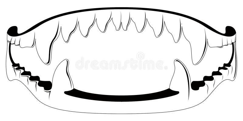 Silhouette de jouet de croc de vampire illustration de vecteur