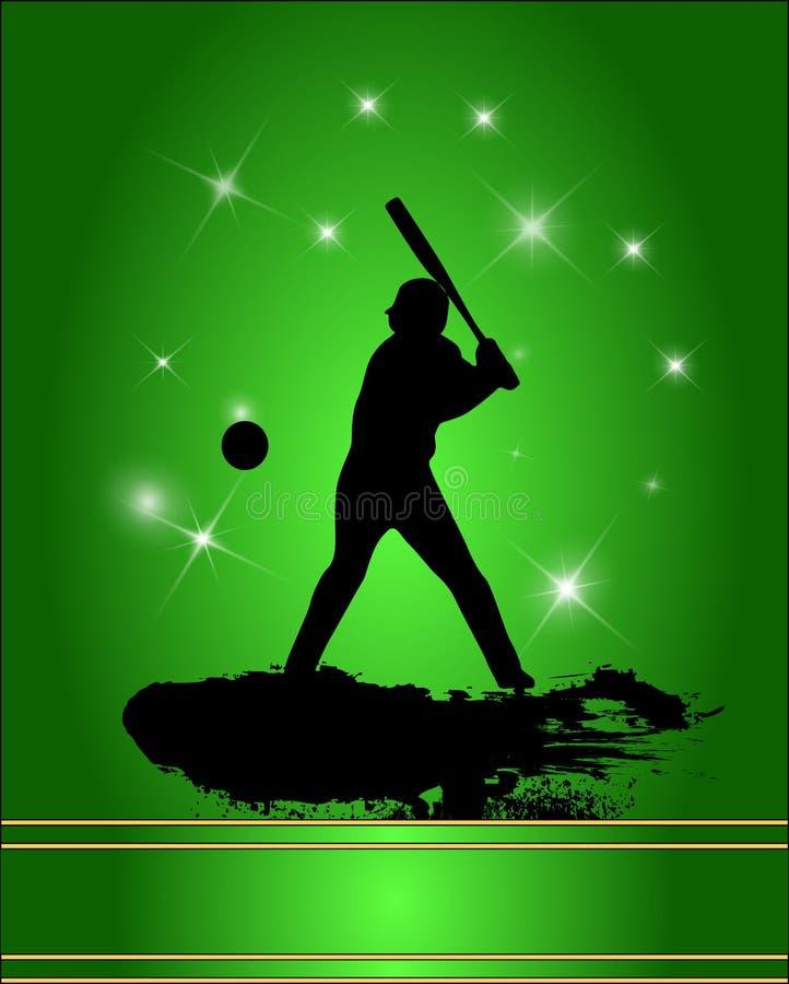 Silhouette de joueur de baseball illustration stock